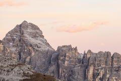 Alpenglow Fotografie Stock