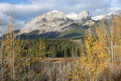 Picchi di montagna nella caduta Fotografia Stock