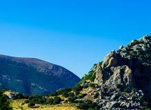 Picchi di montagna nella regione andalusa, landsc tipico della montagna Fotografia Stock Libera da Diritti