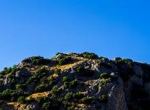 Picchi di montagna nella regione andalusa, landsc tipico della montagna Fotografie Stock Libere da Diritti