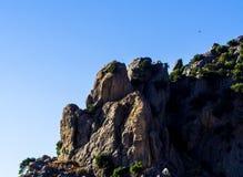 Picchi di montagna nella regione andalusa, landsc tipico della montagna Fotografia Stock