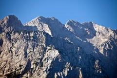 Picchi di montagna sloveni fotografia stock