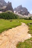 Picchi di montagna vista, paesaggio delle dolomia Fotografia Stock Libera da Diritti