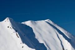 Picchi di Snowy Fotografia Stock Libera da Diritti