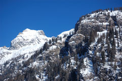 Picchi di Snowy, alpi italiane Immagine Stock