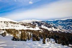 Picchi di Snowy delle alpi Fotografia Stock Libera da Diritti