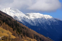 Picchi di Snowy di Tirolo, Austria Fotografie Stock Libere da Diritti