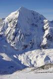 Picchi di Snowy nelle alpi europee Fotografia Stock Libera da Diritti