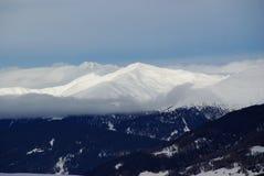 Picchi di Snowy nelle alpi europee Immagine Stock Libera da Diritti