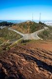 Picchi gemellati, San Francisco, California, U.S.A. Fotografia Stock