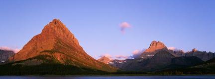 Picchi nella sosta nazionale del ghiacciaio Fotografie Stock
