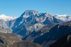 Picchi rocciosi sbalorditivi nelle alpi albanesi Fotografia Stock Libera da Diritti