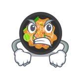 Picchiettio arrabbiato tailandese nella forma del fumetto illustrazione di stock
