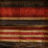 Picchiettio blu e rosso di Grunge della banda Fotografie Stock