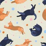 Picchiettio del gatto Fotografie Stock