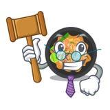 Picchiettio del giudice tailandese sul piatto della mascotte illustrazione di stock