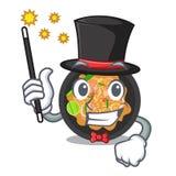 Picchiettio del mago tailandese sul piatto della mascotte illustrazione di stock