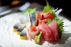 Picchiettio giapponese del sashimi immagine stock