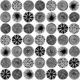 Picchiettio senza cuciture con i cerchi astratti Immagine Stock