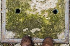 Picchiettio sul pavimento fotografia stock