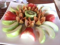 Picchiettio tailandese della frutta, prima colazione immagini stock libere da diritti