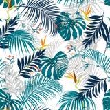Picchiettio tropicale estate artistica senza cuciture d'avanguardia di vettore di bella illustrazione di stock