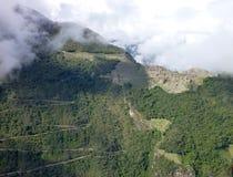 Picchu di Machu visto dal putucusi opposto della montagna Immagini Stock