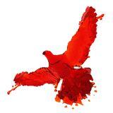 Piccione di liquido rosso Fotografia Stock Libera da Diritti