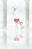 Piccione e gatto Immagine Stock