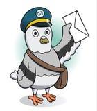 Piccione viaggiatore che tiene una lettera royalty illustrazione gratis