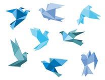 Piccioni e colombe di carta Fotografia Stock Libera da Diritti