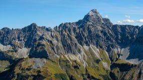 Picco alpino impressionante vicino ad Oberstdorf Immagini Stock Libere da Diritti