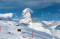 Picco del Cervino in Svizzera Immagini Stock