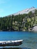 Picco del lago shadow, Lassen Fotografia Stock