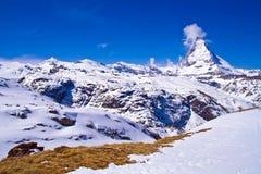 Picco del Matterhorn Immagine Stock