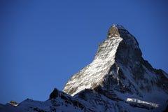 Picco del Matterhorn Fotografie Stock Libere da Diritti