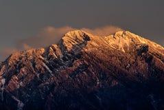 Picco del nord della giada della montagna nell'alba Fotografia Stock