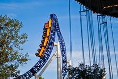 Picco del roller coaster Immagine Stock