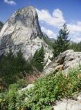 Picco del Yosemite e cadute del Nevada Fotografia Stock Libera da Diritti