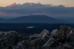 Picco dell'arco della medicina - Wyoming fotografia stock