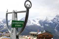 Picco dell'edelweiss, il più alto punto sull'alta strada alpina di Grossglockner a Grossglockner, Austria Fotografia Stock