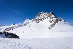 Picco della montagna di Jungfrau, Svizzera Fotografia Stock Libera da Diritti