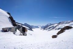 Picco della montagna di Jungfrau, Svizzera Immagini Stock Libere da Diritti