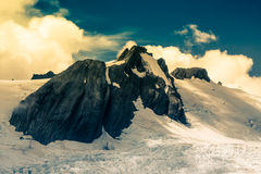 Picco delle alpi del sud in Nuova Zelanda Immagini Stock Libere da Diritti