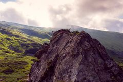 Picco delle montagne Fotografia Stock
