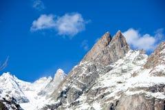 Picco di alta montagna Fotografie Stock Libere da Diritti
