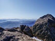 Picco di altezza delle montagne coreane Fotografie Stock