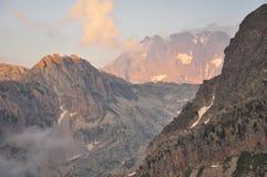 Picco di Argentera, alpi marittime, Italia Fotografia Stock
