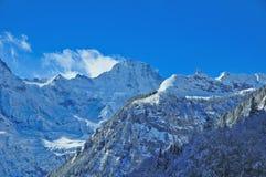 Picco di Breithorn nelle alpi svizzere Fotografia Stock