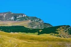 Picco di Caraiman nelle montagne di Bucegi Immagine Stock